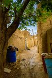 Old Clay Iranian village. Street in the old pise-walled Iranian village located in a desert part of the country Stock Photography