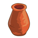 Old clay jar isolated illustration Stock Image