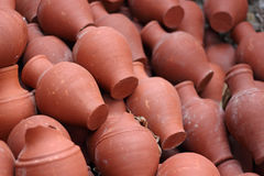 Old clay jugs Stock Photography
