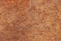 Old clay plaster on the wall Royalty Free Stock Photo
