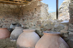 Old clay pot excavations Royalty Free Stock Photo