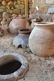 Old clay pot excavations Royalty Free Stock Images