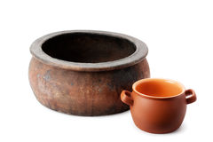 Old clay pot Stock Photography
