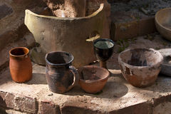 Old clay pots Stock Images
