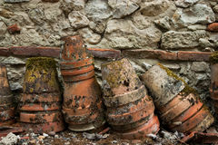 Old clay pots Royalty Free Stock Photography