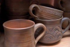 Old clay pots Stock Photos