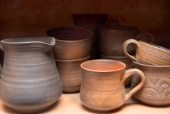 Old clay pots Stock Image
