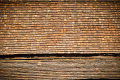 Old clay roof. Close up as background Royalty Free Stock Image