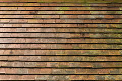 Old Clay roof tile background. Outdoor day light Stock Images