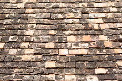 Old clay roof tiles Stock Image