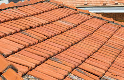 Old clay roof tiles Royalty Free Stock Photo