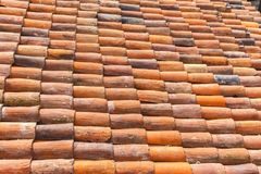 Old roof tiles in Turin. Old clay roof tiles in Turin, Torino, Italy Royalty Free Stock Photos