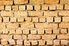 Old clay and sand masonry. Old masonry made of clay, sand and straw Royalty Free Stock Photos