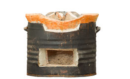Old clay stove Stock Image