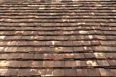 Old clay tile roof texture Stock Photo