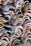 Old clay tiles on island Susak,Croatia Stock Photo
