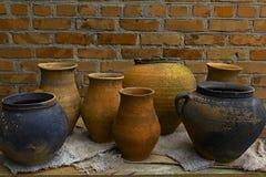 Old clay Ukrainian traditional ware Royalty Free Stock Photo