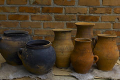 Old clay Ukrainian traditional ware Royalty Free Stock Images