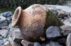 Old clay vase Stock Photo