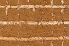 Old clay wall Stock Photography