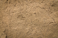 Old clay wall. Royalty Free Stock Photo