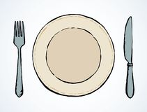Cutlery. Vector drawing royalty free illustration