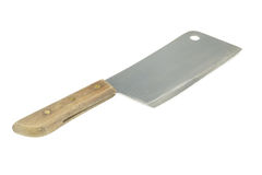 Old cleaver isolated Stock Photography