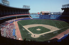 Old Cleveland Stadium. Vintage look at Old Cleveland Stadium, home of the Cleveland Indians. (Image taken from color slide Stock Photography