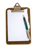 Old clip board with paper Royalty Free Stock Photos