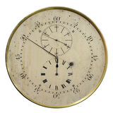Old clock. Antique clock with a few dials, one of which is the inverse Stock Photography