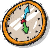 Old clock. Hand-made, old clock illustration royalty free illustration