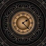 Old clock. Vintage background with old clock Royalty Free Stock Photo