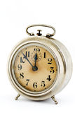Old clock. On white background stock images