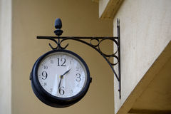 Old Clock. On A Building Wall Royalty Free Stock Photography