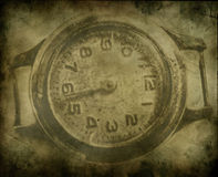 An Old clock. An old grunge clock abstract background Royalty Free Stock Image