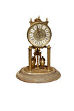 Old-clock. Isolated vintage clock with clipping path included Stock Photo