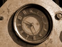 Old clock. (sepia Stock Images