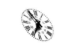 Old clock. Over white background Stock Photo