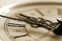 Old clock. A close-up photo of an old clock Stock Photography
