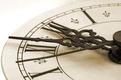 Old clock. A close-up photo of an old clock Royalty Free Stock Images