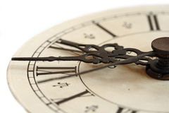 Old clock. A close-up photo of an old clock Royalty Free Stock Photos