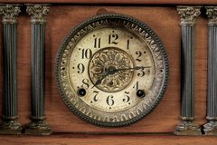 Old clock. From the 1940s stock photography
