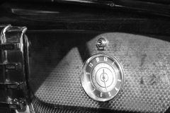 Old clock on american car glove box Royalty Free Stock Photography