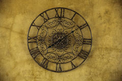 Old clock as roman style Stock Image