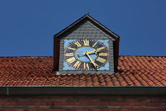 Old clock of attic. Royalty Free Stock Photos
