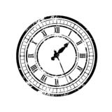 Old_clock_black 库存例证