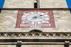 Old clock at Black Church - Biserica Neagra in Royalty Free Stock Photo