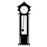 Old clock  black  illustration Stock Photography