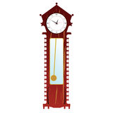 Old clock in brown color illustration Stock Images