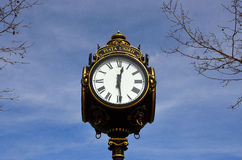 Old clock  Bucharest, Romania Royalty Free Stock Photo
